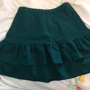 J crew ruffle skirt